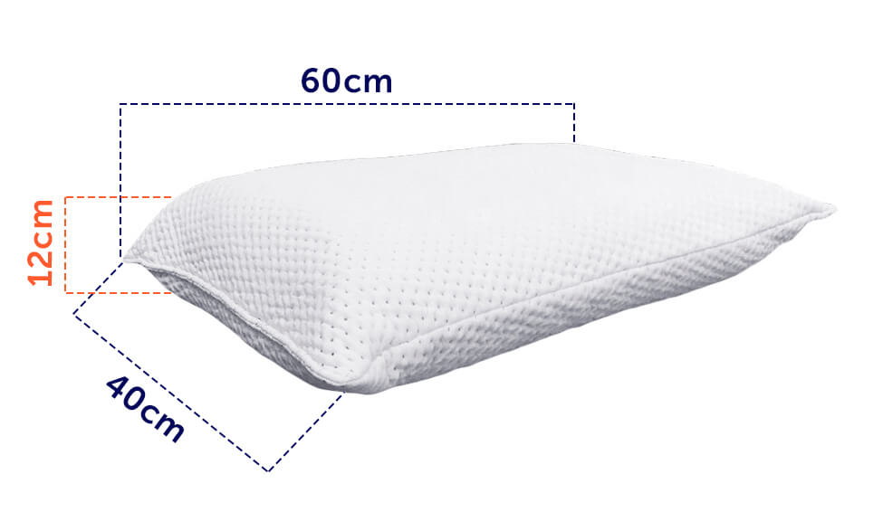 Tamanho do Travesseiro Guldi 12x60x40